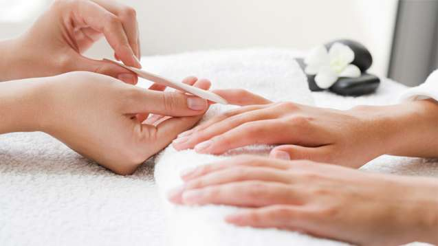 Facial hand spa treatment