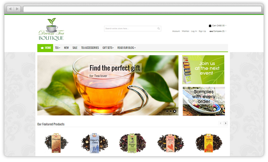 Dream Tea Boutique Web