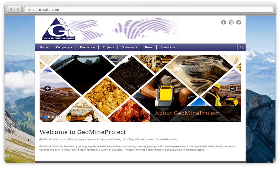 GeoMine Project – website