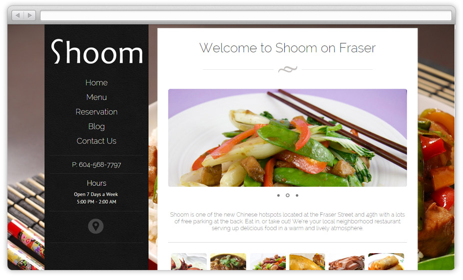 Vancouver Chinese restaurant – website