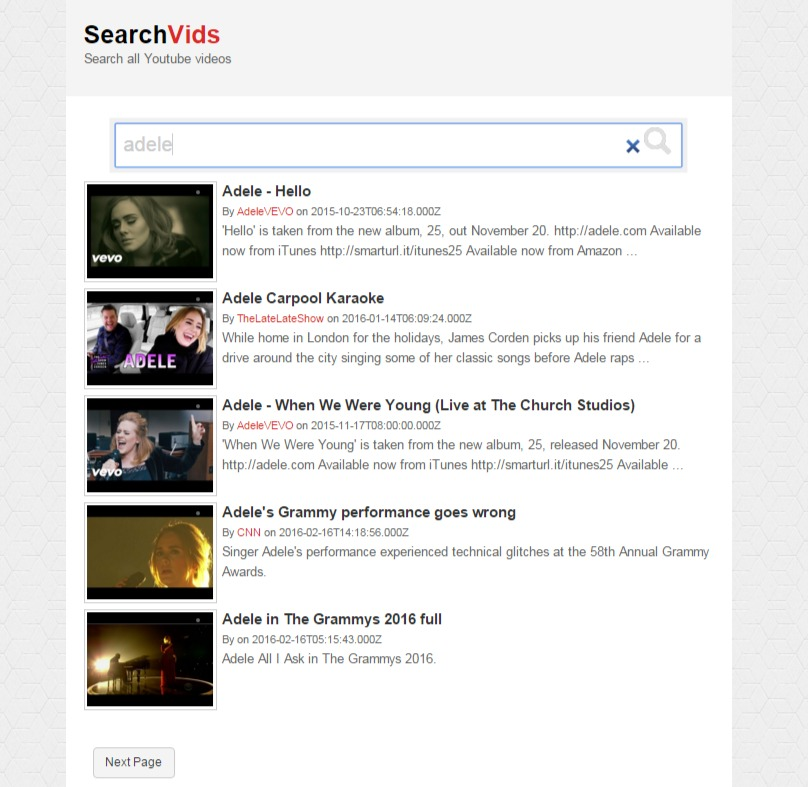 SearchVids - YouTube video search script - Katrina's