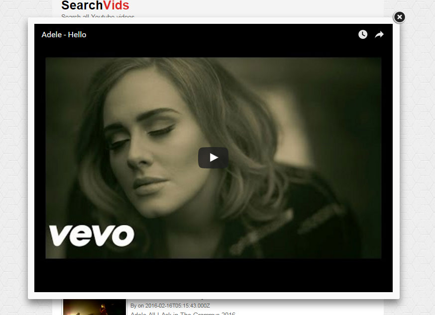 SearchVids – YouTube video search script