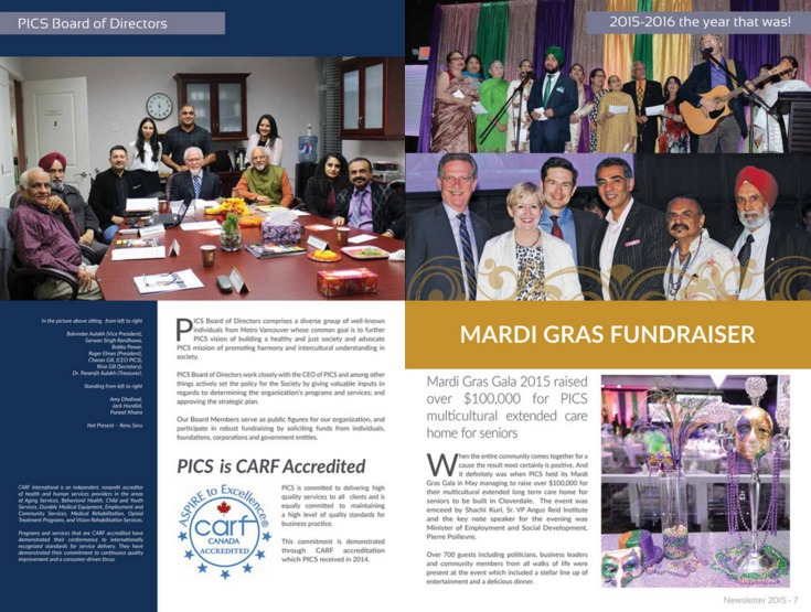 Annual report for non profit organization