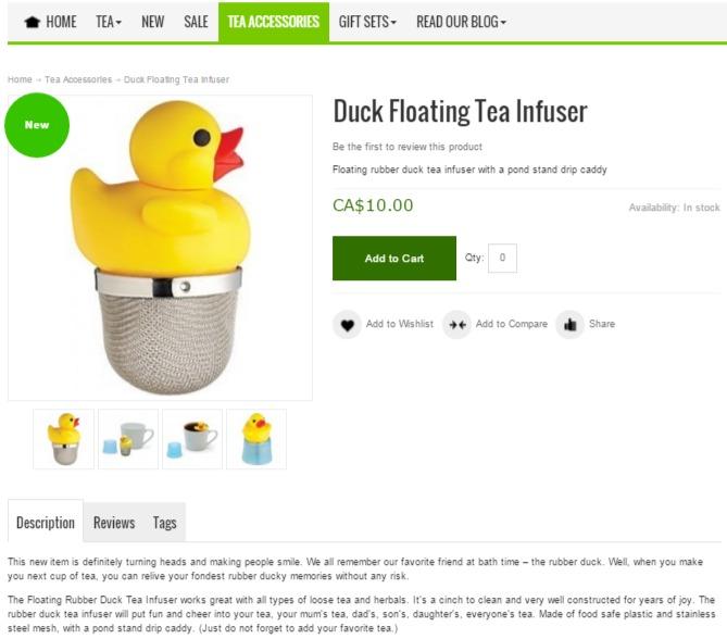 Dream Tea Boutique Web
